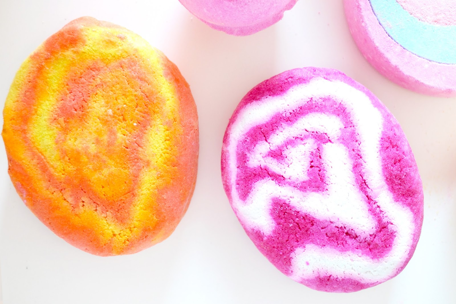 brightside bubble bar, the comforter bubble bar, bubble bars from lush