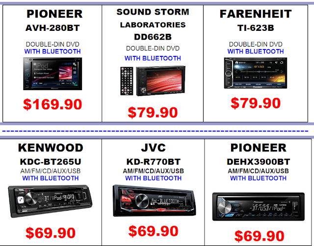 car audio specials