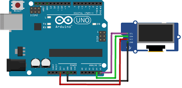 Oled Arduino, Oled 128x64 Arduino, How to Connect OLED 128x64 Arduino, OLED Arduino Example, Contoh OLED Arduino