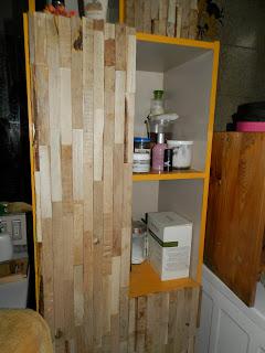 listelli legno riuso copertura mobili fai da te