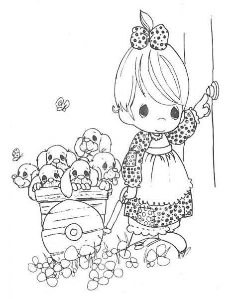 adult free printable precious moments coloring pages free ... | 600x472