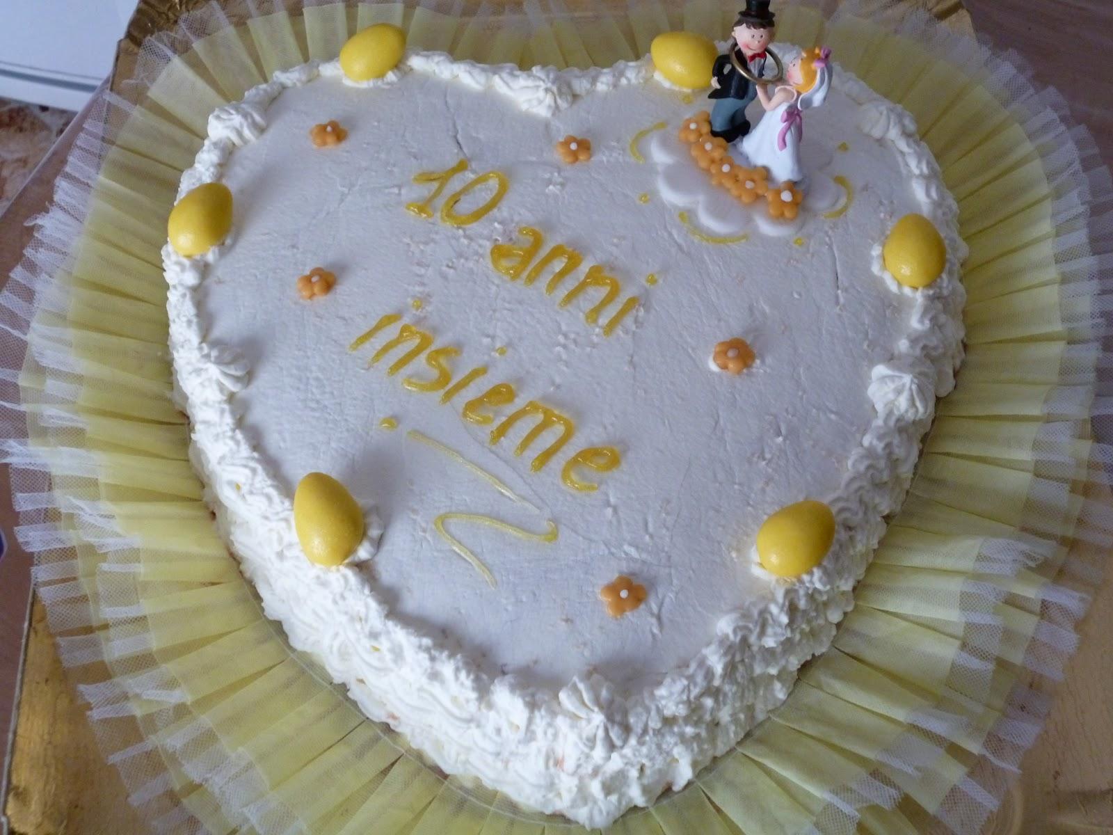 Popolare TORTA NOZZE DI STAGNO: 10 ANNI DI MATRIMONIO | Dolci note VP54