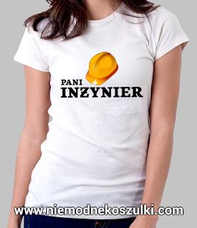 prezent na obronę inżyniera - koszulka pani inżynier