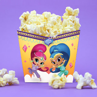 Shimmer and Shine popcorn box