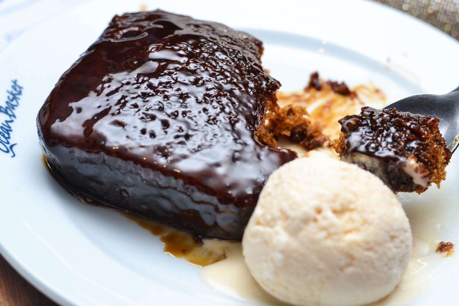 Toffee Pudding and Ice-cream