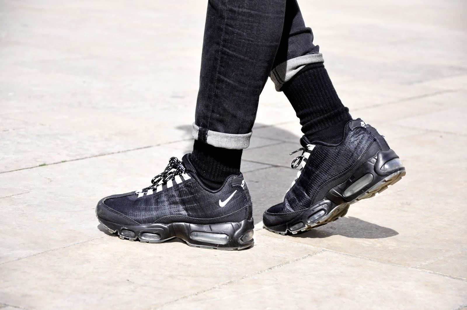 sale retailer 7a975 df703 air max 95 porte,Chaussures Homme Nike Air Max 95 V SP Blanc Gris Jaune  Fluo Noir Anthracite