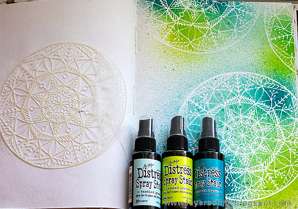 Layers of ink - STAMPtember journal page tutorial by Anna-Karin
