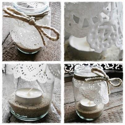 Selbermachen Teelichter Vintage