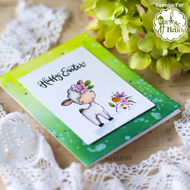 Ink Blended Card Note Easter Card