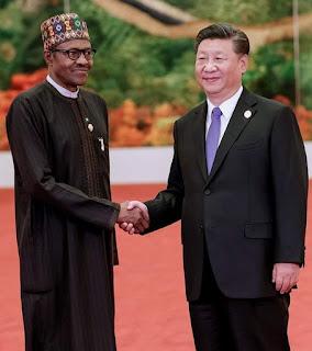 Buhari with president of China