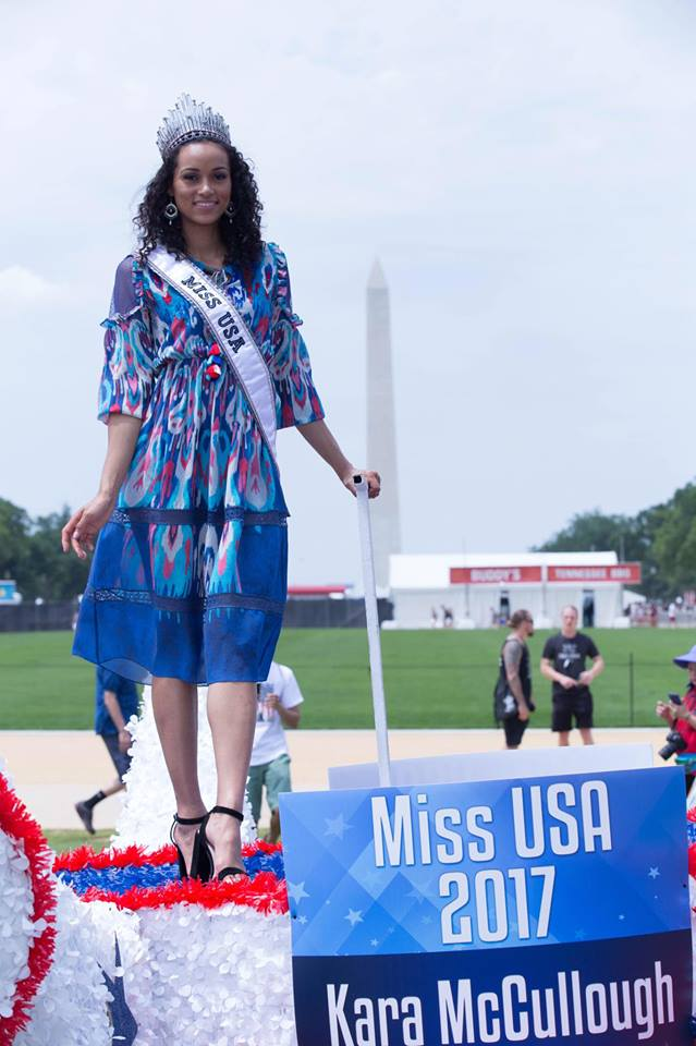 Pictures of  Miss USA  Celebrating  4th of July in Washington D.C