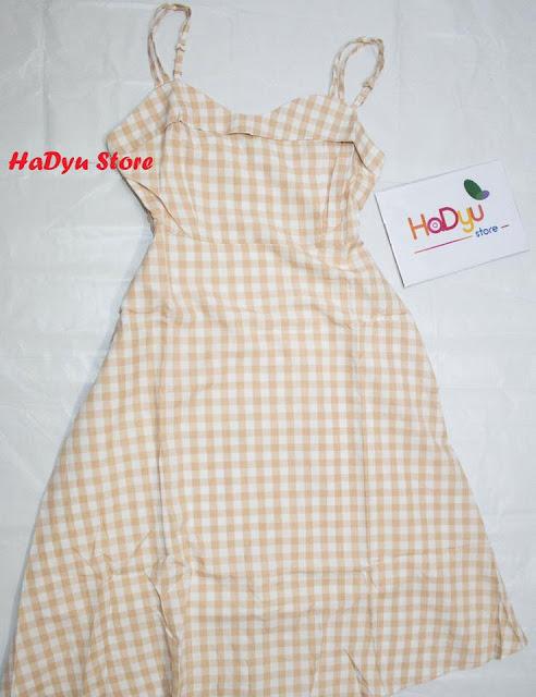 Đầm hai dây caro xinh xắn cho bạn gái - HaDyu Store