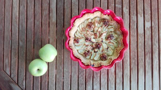 tarta de manzana con masa quebrada sin lactosa