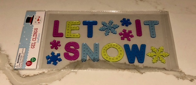 Let it Snow window clings