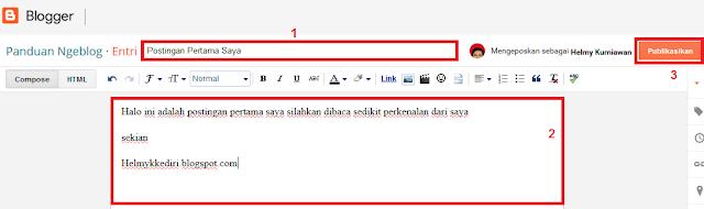 Cara Mudah Membuat Blog diBlogger Terbaru