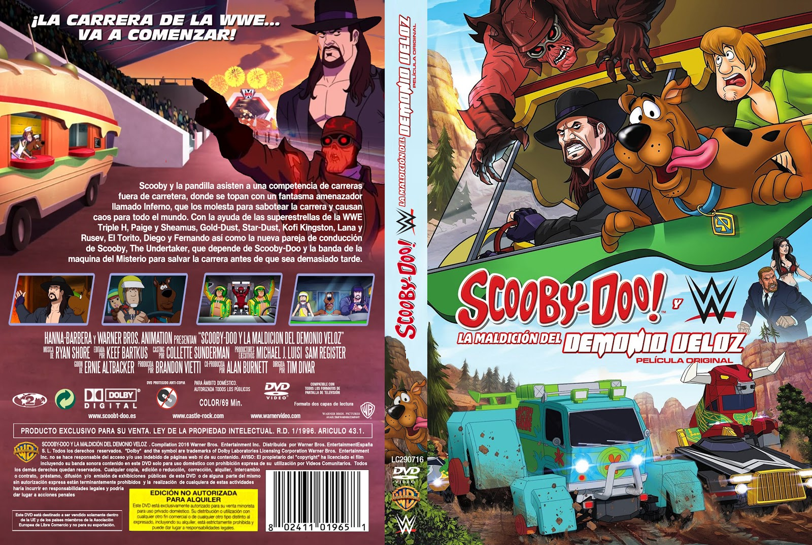 Scooby-Doo e WWE Maldição do Demônio Veloz DVD-R SCOOBY