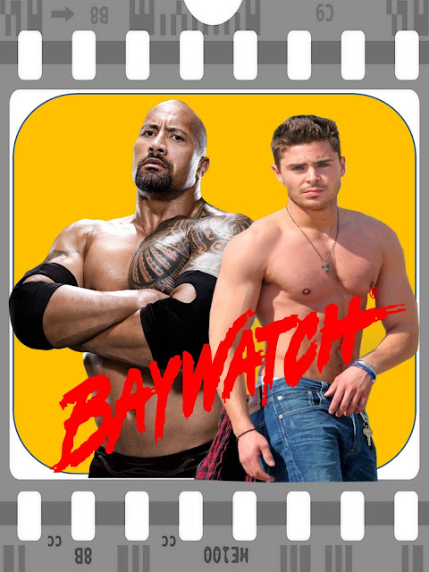 "BAYWATCH ... DWAYNE ""THE ROCK"" JOHNSON And ZAC EFRON Pick Up Where DAVID HASSELHOFF Left Off!!!"