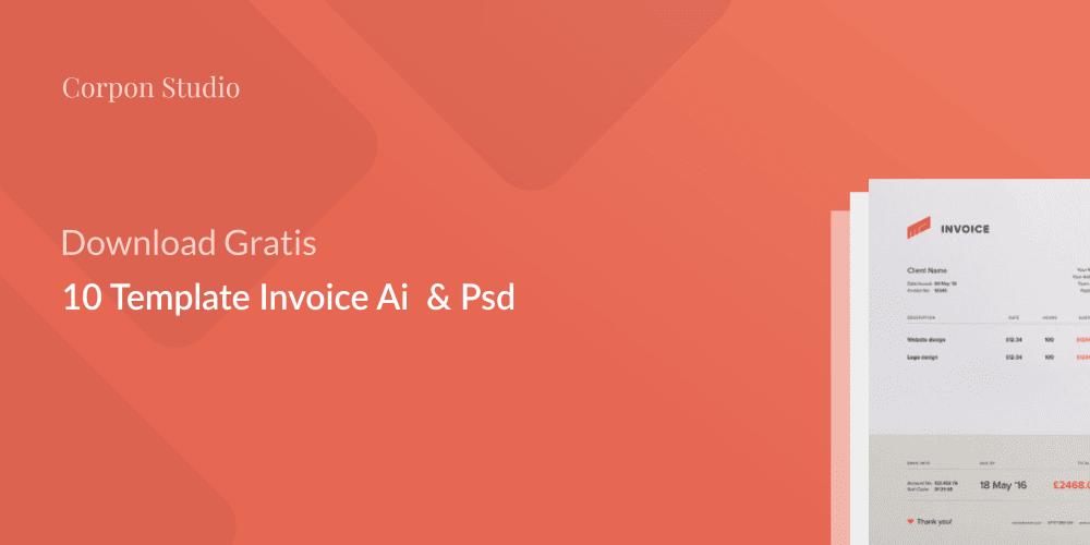 Download Gratis 10 Desain Template Invoice Terbaik