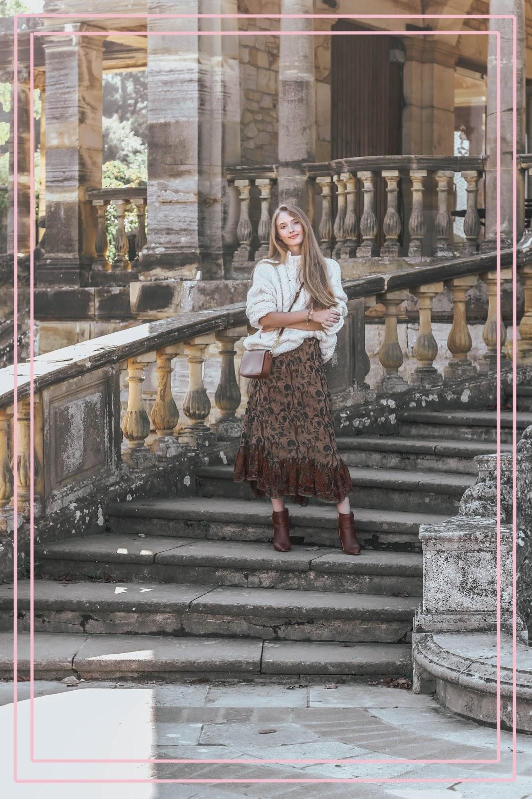 Vintage Midi Skirt Fashion Blog Styling