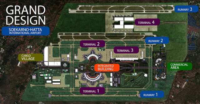 Layout of Soekarno-Hatta International Airport Map