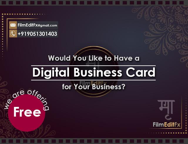 Free Digital Business Card Filmeditfx