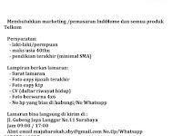 lowongan kerja marketing indihome surabaya