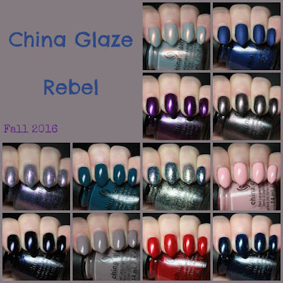 china glaze rebel swatches review