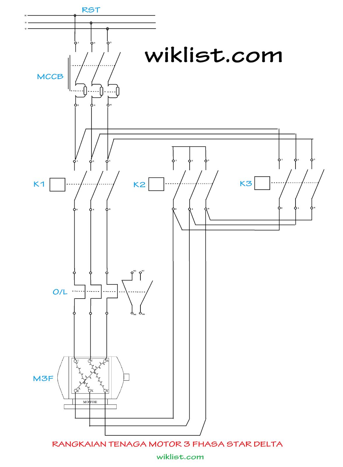 Sistem kontrol motor listrik 3 phasa star delta mebuat dan rangkaian tenaga ccuart Image collections