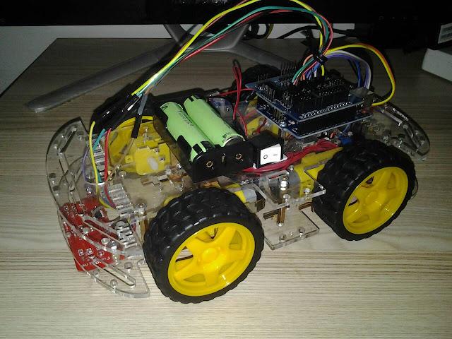 โปรเจค หุ่นยนต์เดินตามเส้น 4WD 3 เซ็นเซอร์ CTRT5000