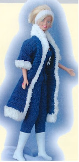 manteau au crochet pour barbie