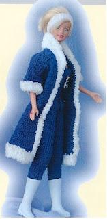 manteau au crochet pour barbie
