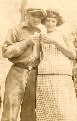 Wallace B. Dixon and an unidentified young woman. Probably early 1920's?