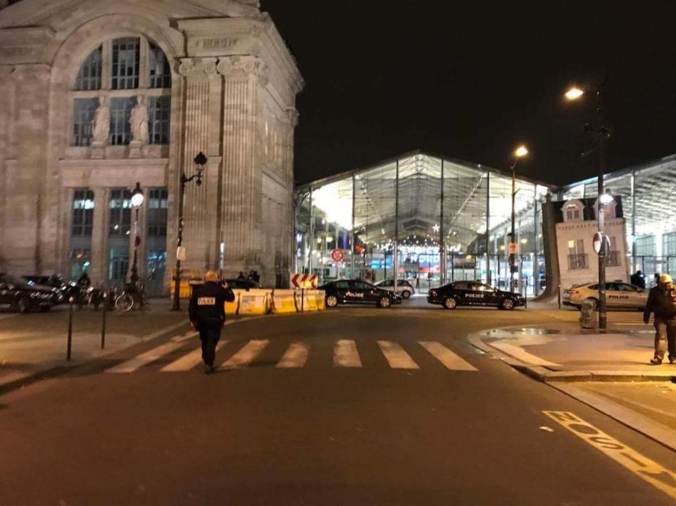 PARIS ON LOCKDOWN: Gare Du Nord evacuated as heavily-armed cops storm Paris train station in hunt for 'three dangerous men'