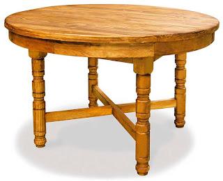 mesa redonda rustica