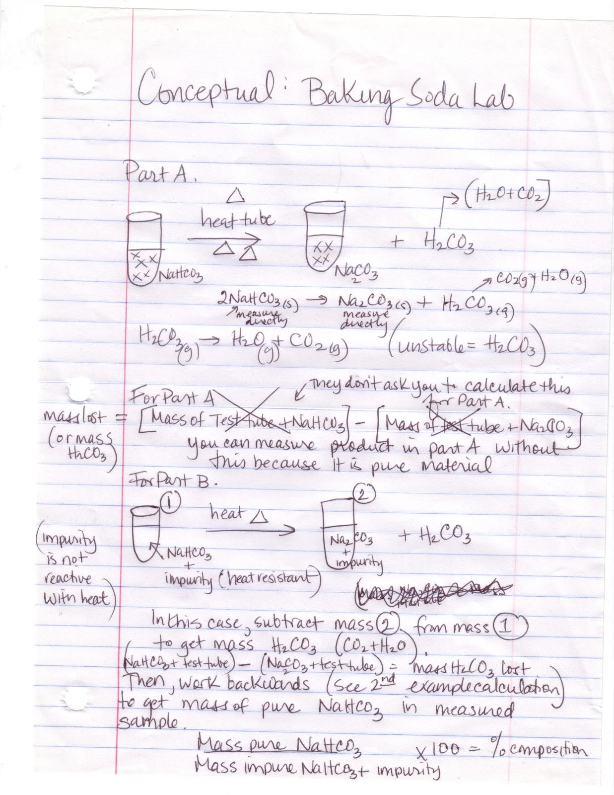 The Stoichiometric Equivalent Baking Soda Lab
