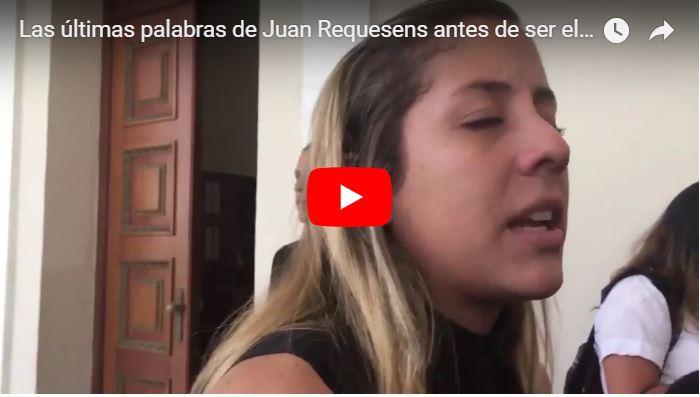 Las últimas palabras de Juan Requesens antes de ser el nuevo preso político del régimen