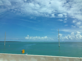 Driving along the overseas highway florida keys