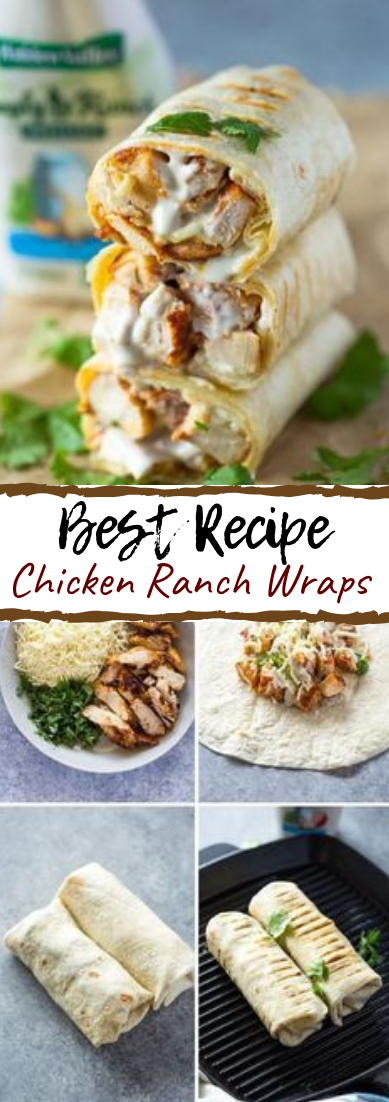 Chicken Ranch Wraps #dinnerrecipe #food