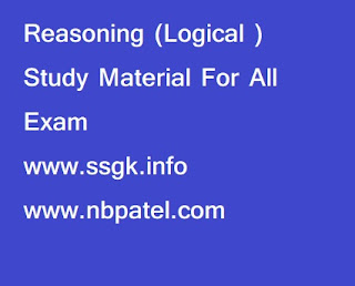 Reasoning (Logical ) Study Material For All Exam