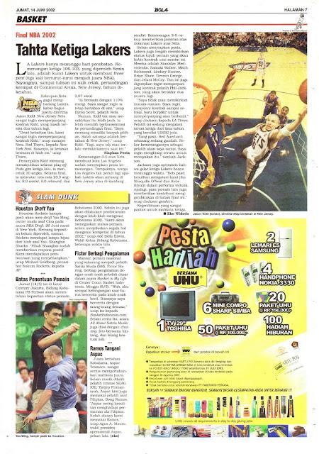 FINAL NBA 2002 TAHTA KETIGA LAKERS