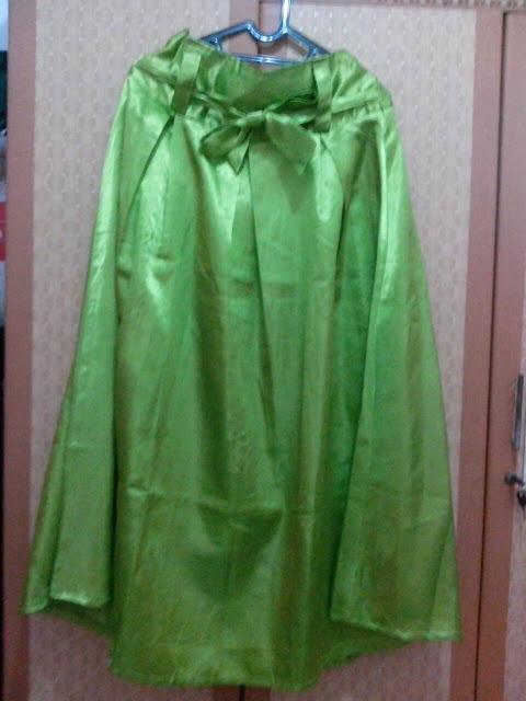 Model Rok Payung Warna Hijau Bahan Satin Murah