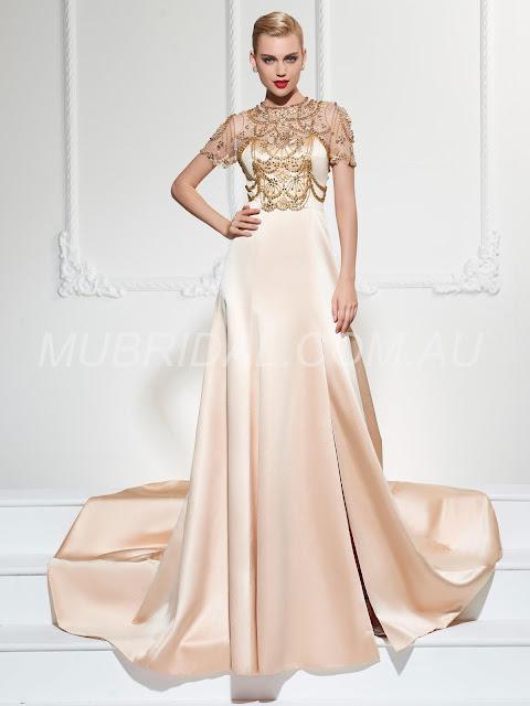 Beading Queen. E Spring Split-Front Celebrity Floor-Length Evening Summer Dress