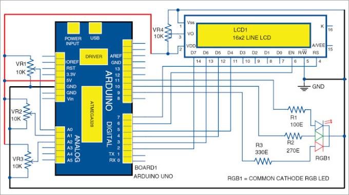 Arduino Based RGB Colour Code Generator