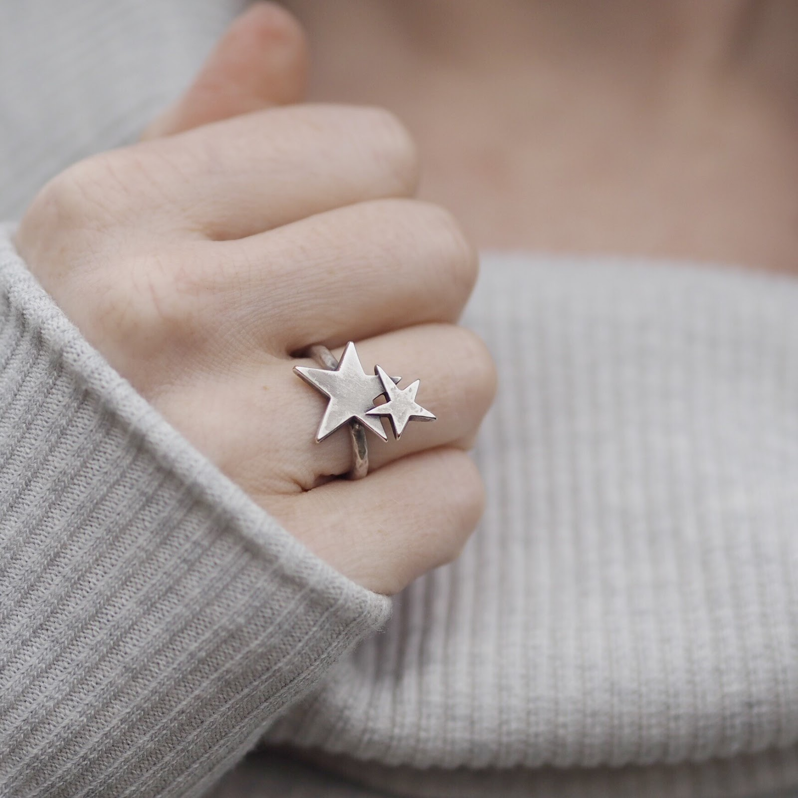 Danon jewellery silver stars ring