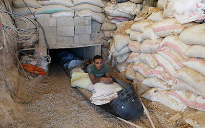 Tunnel between Gaza and Egypt