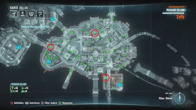Batman Arkham Knight, Riddler's Bomb Locations, Miagani Island Map