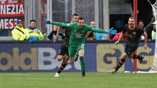 Incredible: Benevento goal keeper Alberto Brignoli scores late equaliser vs AC Milan [Video]