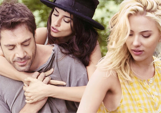 Fotograma de Vicky Cristina Barcelona (2008), de izda a drcha, Javier Bardem, Penélope Cruz y Scarlett Johansson