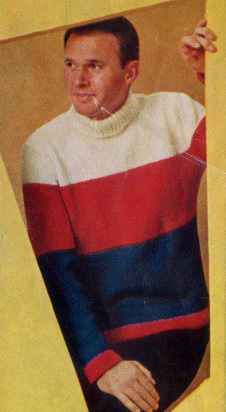 The Vintage Pattern Files: Free 1960's Knitting Pattern - Mens Yankee Doodle Dandy Jumper