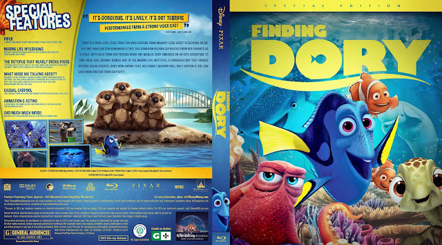 Finding Dory Bluray Cover